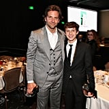 Bradley Cooper and Tom Holland posed for photos at the Hollywood Film Awards gala in Los Angeles.