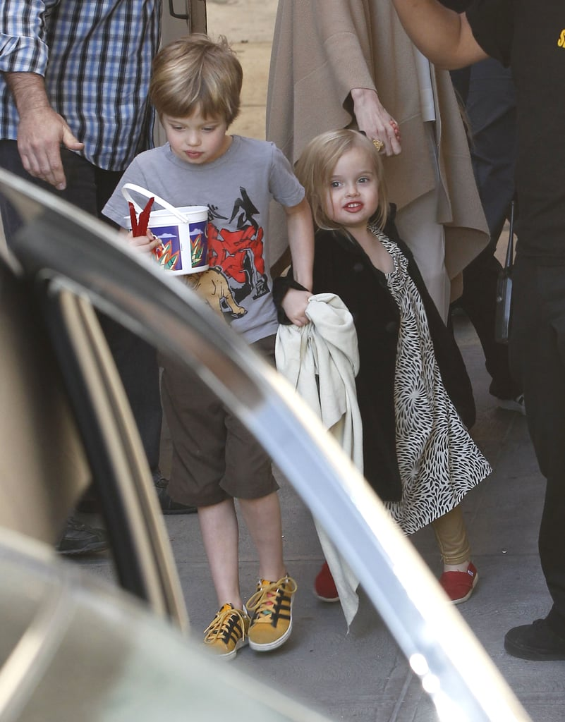Angelina Jolie, Shiloh, and Vivienne Have a Movie Date