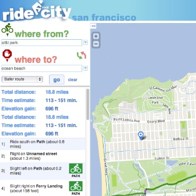 Ride the City Bike Map App