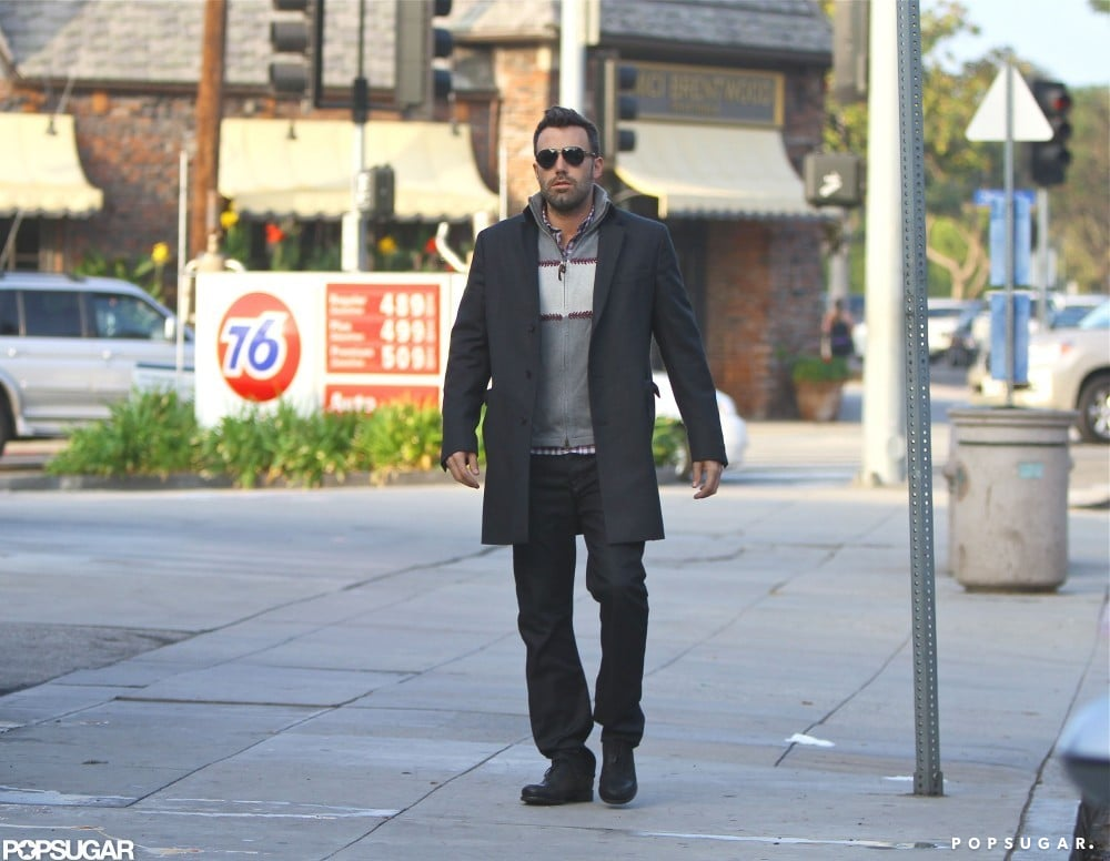 Ben Affleck hit the pavement in his Brentwood neighborhood.