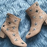 Forever 21 Star Printed Faux Suede Boots