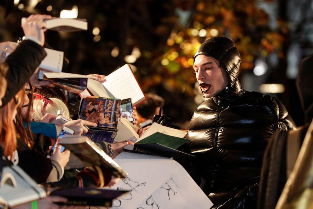 Ezra Miller at the Fantastic Beasts 2 Premiere November 2018