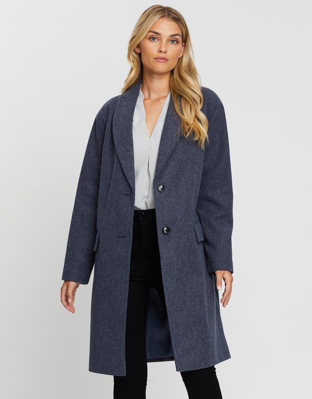 Dorothy Perkins Shawl Collar Soft Breasted Crombie Coat ($114.95)