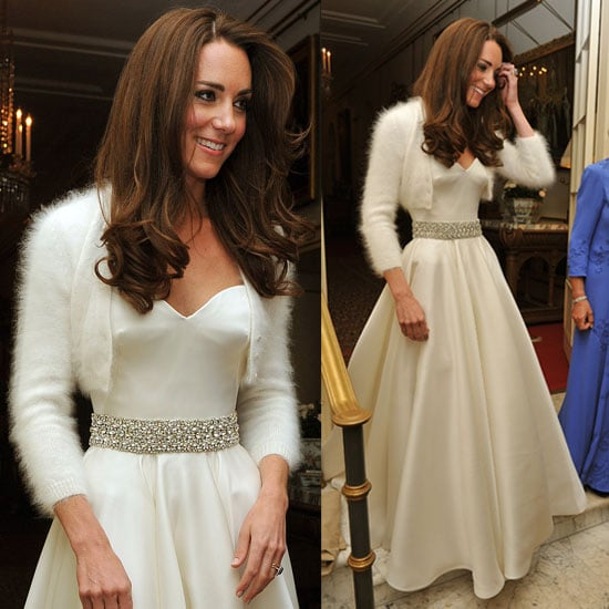 Kate Middleton Changes Into a Second Dress by Sarah Burton For Alexander McQueen