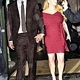 Jessica Simpson and Eric Johnson walked hand in hand to the 2011 Footwear News Achievement Awards in NYC.