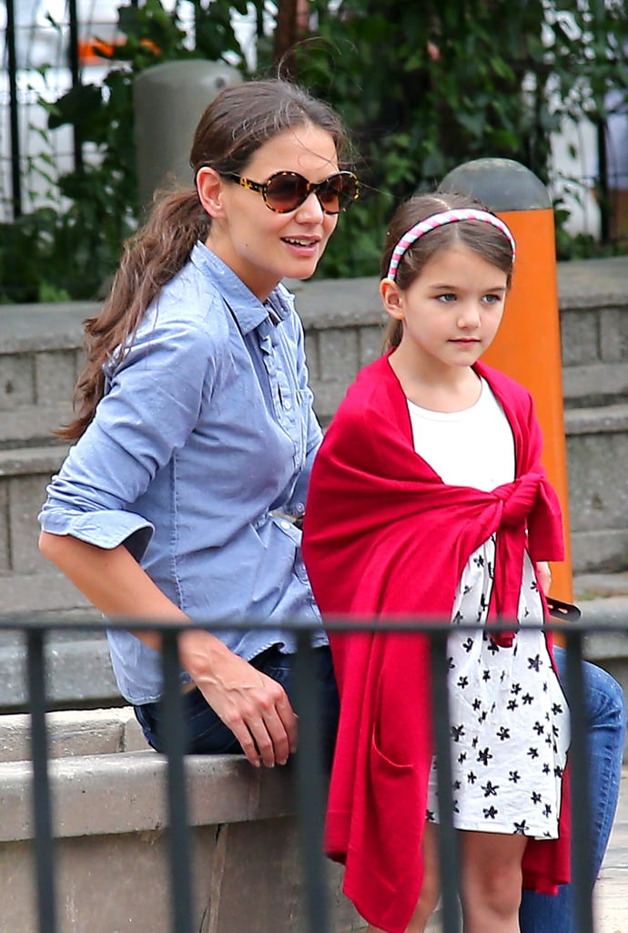 Katie Holmes took Suri Cruise to the park in NYC on Monday.