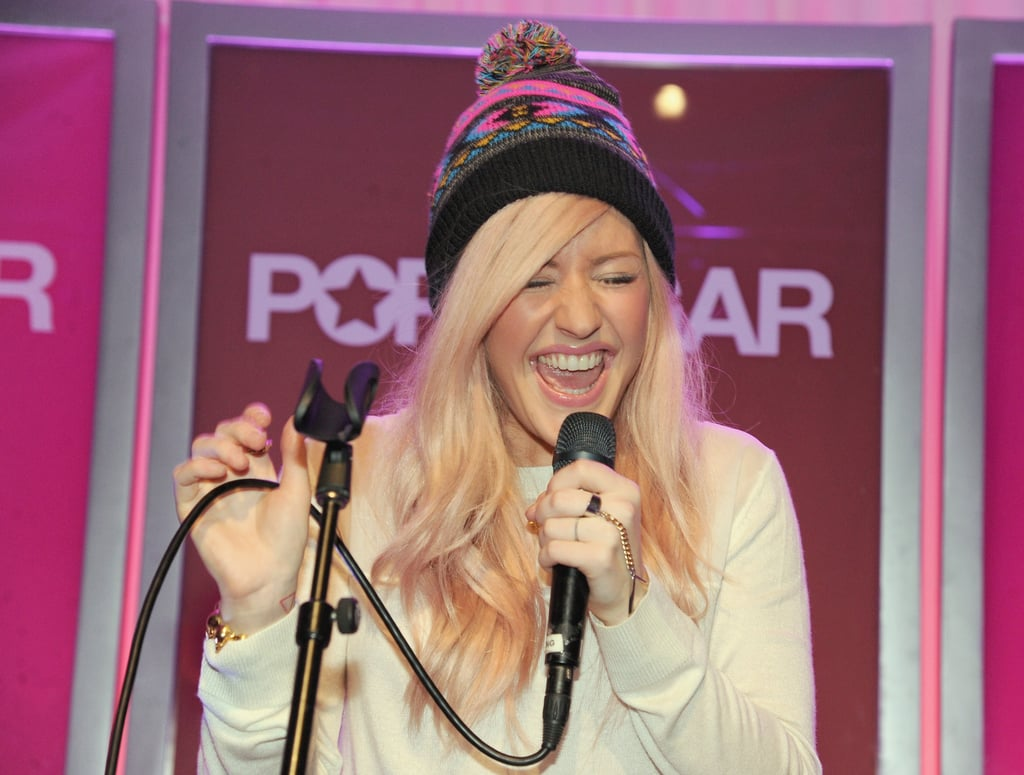 "Ellie Goulding performed tracks including ""Lights"" and ""Anything Could Happen"" on stage."