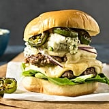 Smashburgers With Charred Serrano-Blue Cheese Butter
