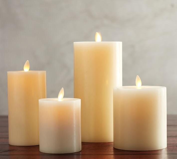 Premium Flameless Wax Pillar Candles