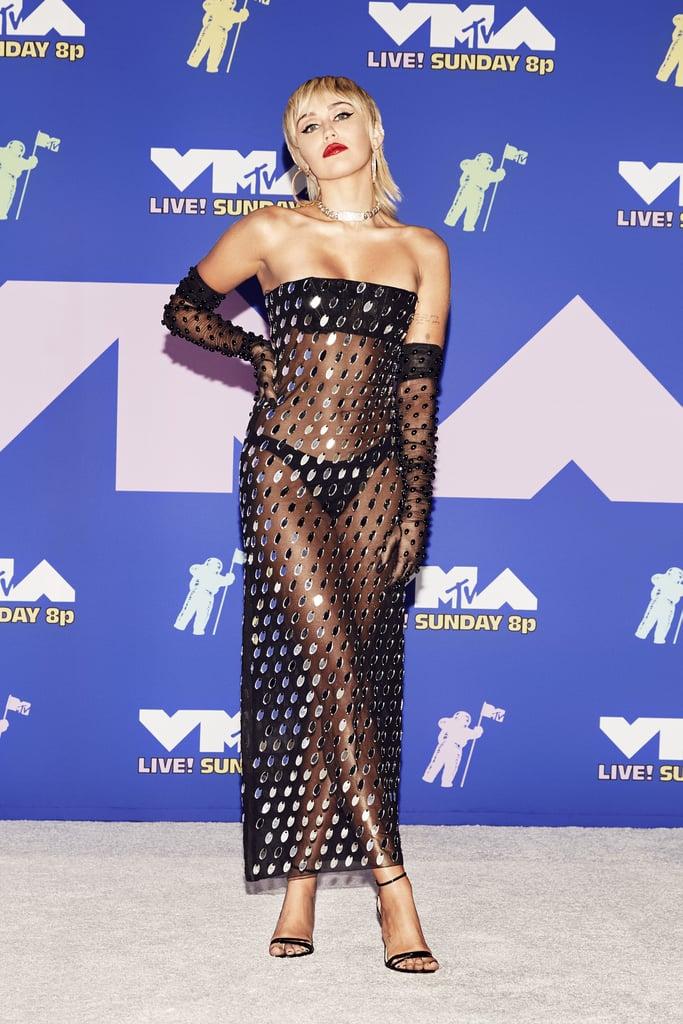 Miley Cyrus's Mullet Haircut and 80s Glam at MTV VMAs 2020