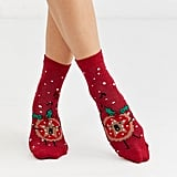 ASOS Design Holidays Mince Pie Glitter Ankle Socks