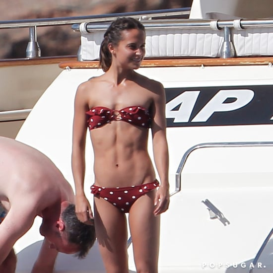 Alicia Vikander Polka Dot And Other Stories Bikini