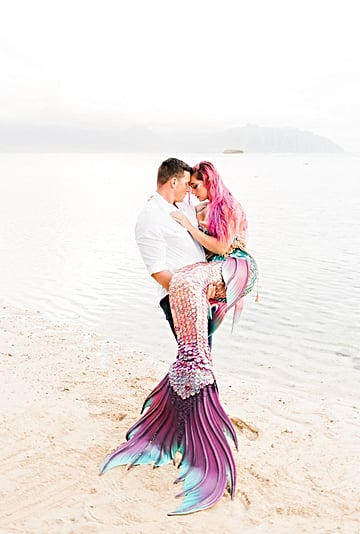 A Couple's Sexy Mermaid-Themed Photo Shoot