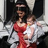 Salma and Valentina on set.