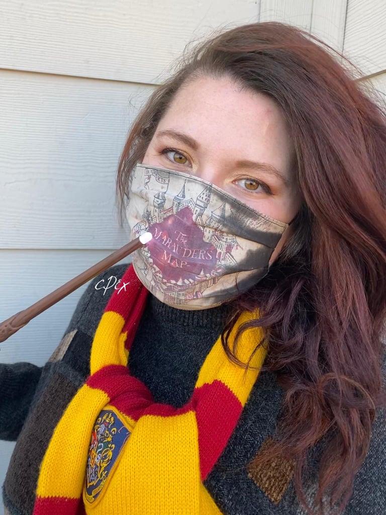 Harry Potter Marauder's Map Color-Changing Face Mask TikTok