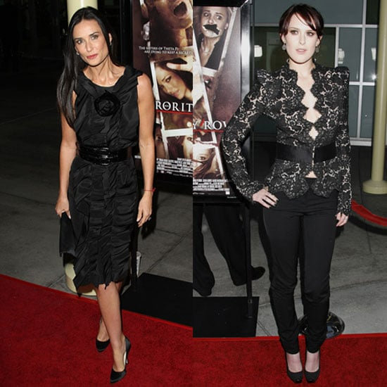 Photo of Demi Moore and Rumer Willia at Sorority Row Premiere in LA