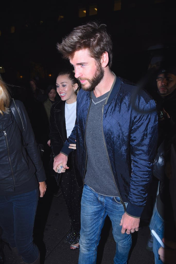 Liam Hemsworth and Miley Cyrus Out in NYC November 2017
