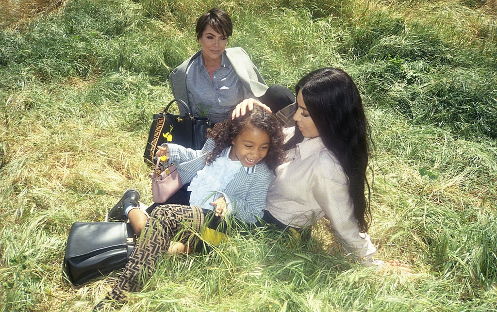 "Fendi is celebrating the 10-year anniversary of its Peekaboo handbag with family. The Italian luxury fashion house recently launched the #MeAndMyPeekaboo campaign, which highlights strong female bonds, including, most notably, three generations of Kardashians: Kris Jenner, Kim Kardashian, and North West. This marks the first fashion campaign for Kim and Kanye West's 5-year-old daughter.  ""In the case of the Kardashians, they are all three of them very strong women, with strong personalities,"" Accessories Creative Director Silvia Venturini Fendi told WWD. ""It's an iconic family who is known for its appearance, but we wanted to bring more of an intimate side to the table."" The creative director was also spotlighted in the campaign with her daughters (Delfina Delettrez Fendi and Leonetta Luciano Fendi), along with Ewan McGregor's daughters (Clara McGregor and Esther McGregor) and many others.  In an intimate video also pertaining to the campaign, Kanye's ""Love Lockdown"" scores footage of Kris, Kim, and North frolicking in a field and posing around a pool. Watch the intentionally low-definition video ahead and see pictures from the family-focused campaign.      Related:                                                                                                           12 Times North West Dressed Exactly Like Kim Kardashian — and Looked Freakin' Adorable"
