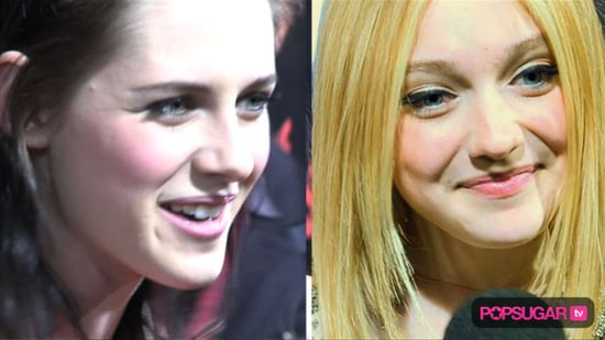 Kristen Stewart, Dakota Fanning, and Taylor Lautner at the LA Premiere of The Runaways