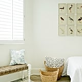 The art and accessories in Vivianne's room, such as the bird collage ($154, originally $210), are child-appropriate yet sophisticated.
