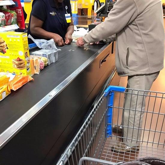 Walmart Cashier Helps Elderly Man