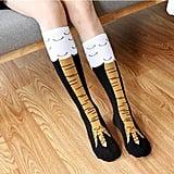 Crazy Funny Chicken Legs Knee-High Novelty Socks