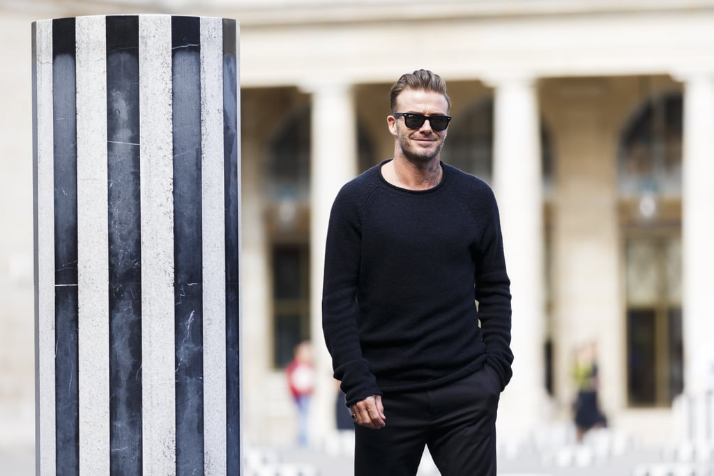 David Beckham at Paris Fashion Week 2016 | POPSUGAR ...