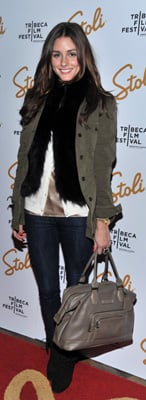 Olivia Palermo at 2010 Stoli Film Pioneer Awards in NYC Wearing Green Jacket