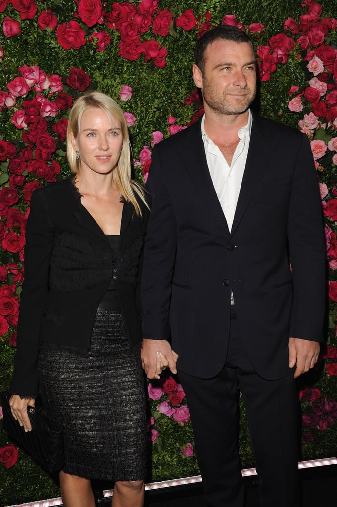 Naomi Watts held hands with Liev Schreiber at the Chanel dinner party at the 2012 Tribeca Film Festival.