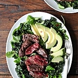 Kale Salad With Steak and Avocado