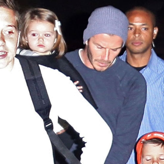 David and Victoria Beckham Leave LAX With Harper   Pictures
