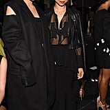 Kylie in Vera Wang at her Spring 2016 show with Monica Rose.