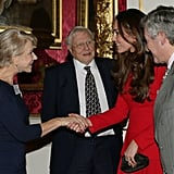 Helen Mirren met Kate Middleton at Queen Elizabeth II's special A-list reception at Buckingham Palace.