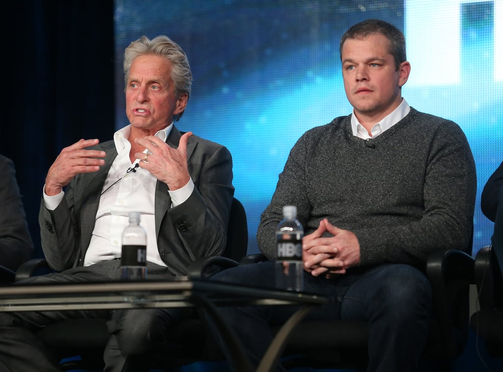 Matt Damon and Michael Douglas took the stage.