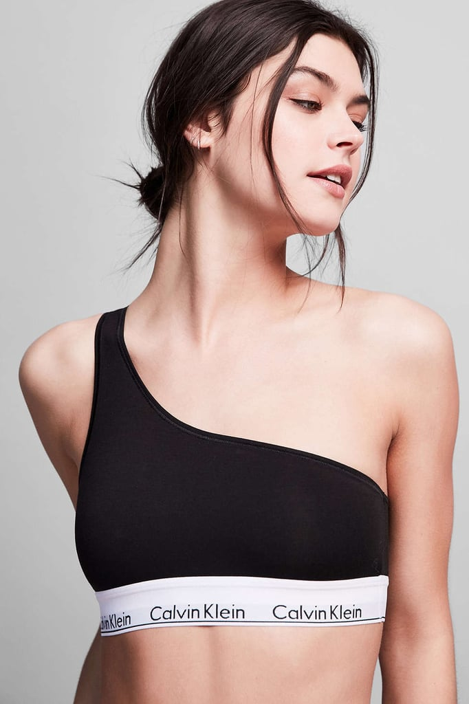 Calvin Klein's Modern Cotton Bralette ($34) features the new bold one-shoulder detail.