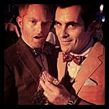 Modern Family costars Jesse Tyler Ferguson and Ty Burrell found each other at the Tie the Knot event. Source: Instagram user jessetyler