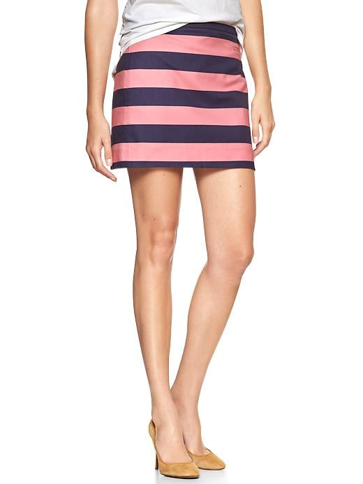 Gap Navy-and-Pink Rugby-Stripe Miniskirt