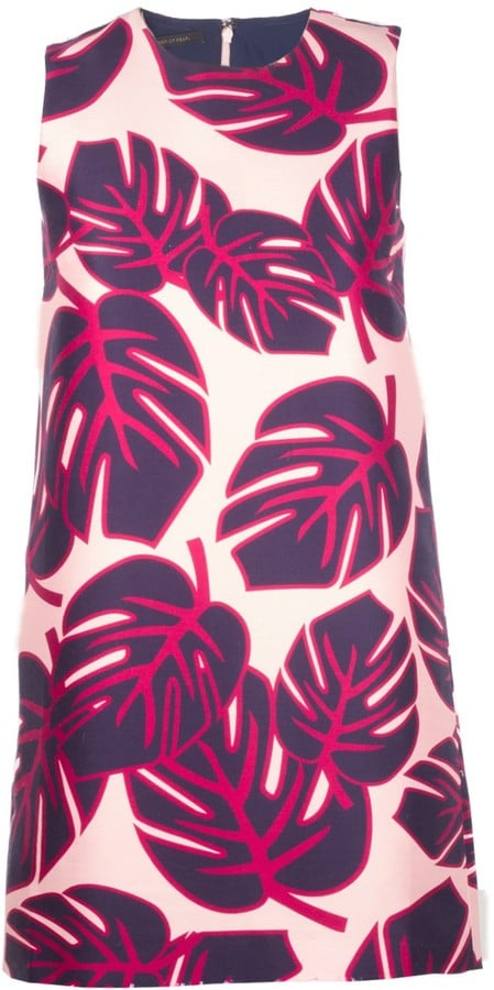 Mother of Pearl Palm Print Franklin Shift Dress