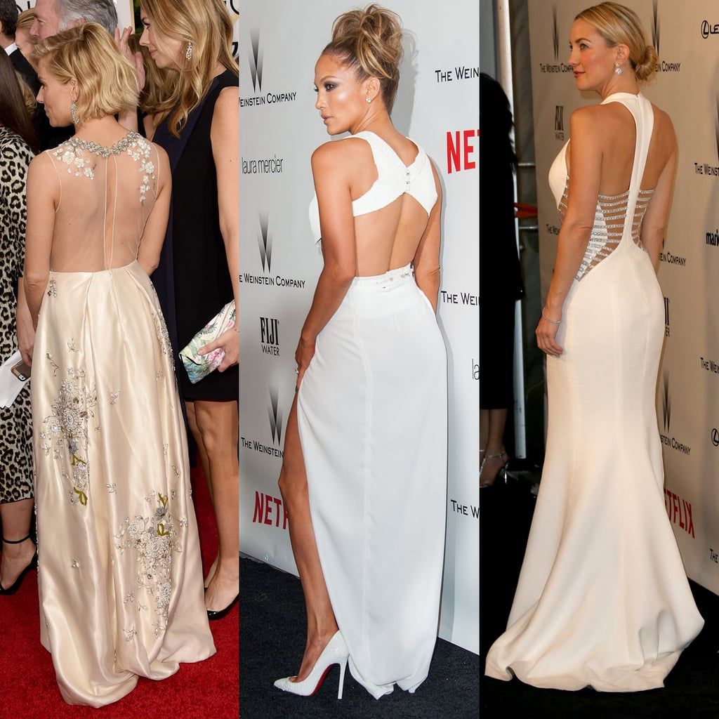 Best Globes Of The Golden Globes: Golden Globes Dresses With Beautiful Backs 2015