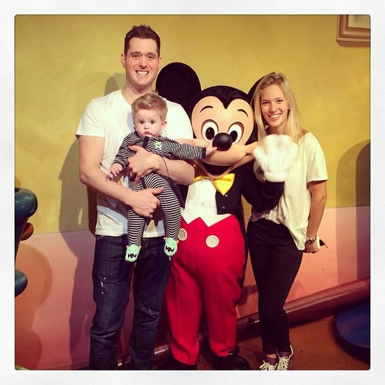 Michael Buble and Luisana Lopilato Bring Noah to Disneyland