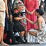 When She Bent Down to Greet Aunty Joyce Smith, the Oldest Surviving Member of the Butchulla People