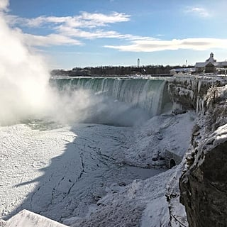 Photos of Niagara Falls Frozen January 2019