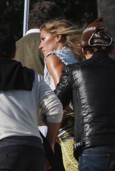 Gisele Bundchen Shooting for V Magazine on the Beach in Malibu