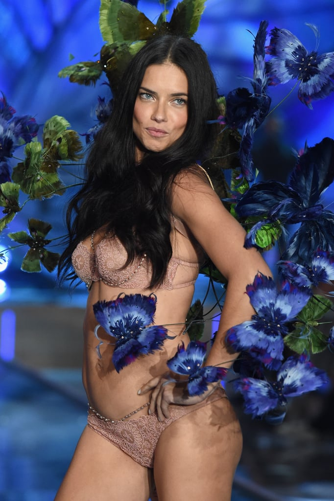 Adriana Lima walked her 16th VS runway in 2015.