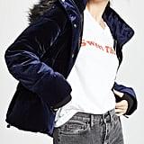Jocelyn Velvet Down Puffer Jacket