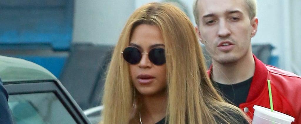 Beyoncé Sweetly Cradles Her Baby Bump During an LA Shopping Trip