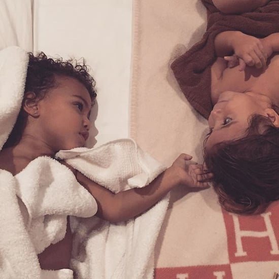 North West and Penelope Disick Bedtime Photo November 2015