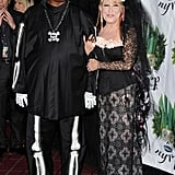 Bette Midler had Stevie Wonder by her side at her 2011 New York Restoration Project's Hulaween in NYC.