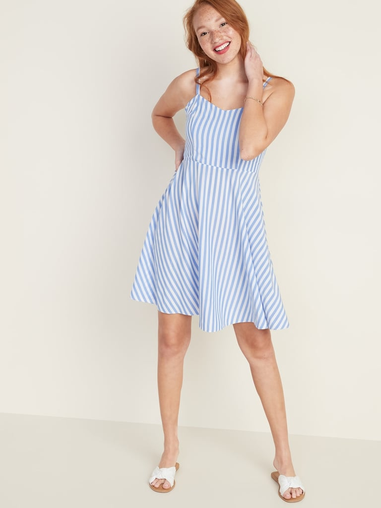 Old Navy Striped Fit & Flare Cami Dress