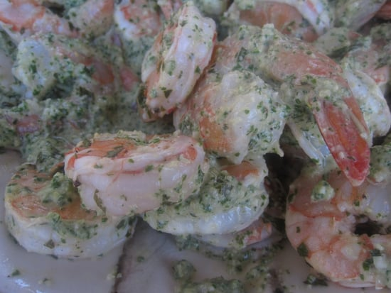 Shrimp With Mint Pesto Recipe